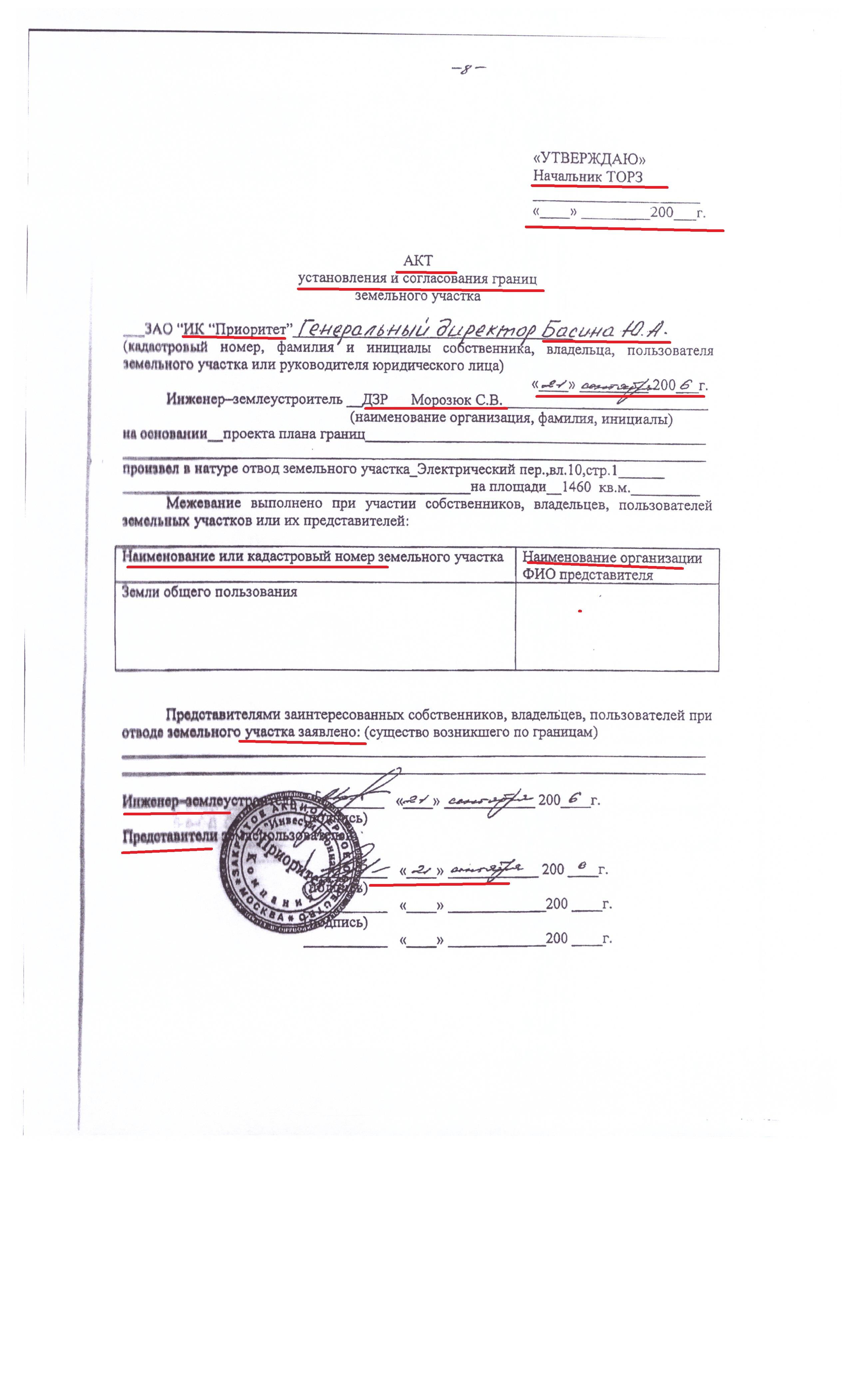 Акт согласования границ с Садиком ПУСТОЙ